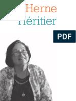 Cahier de l'Herne Françoise Héritier