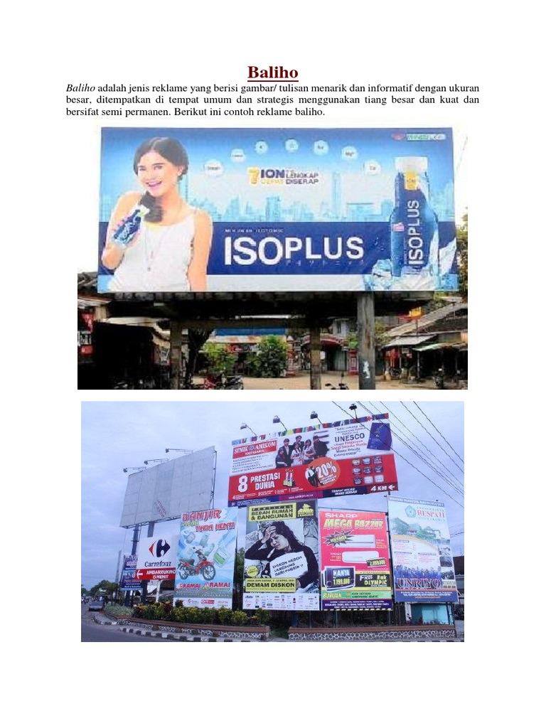 Contoh Gambar Reklame Baliho - Gambar Reklame