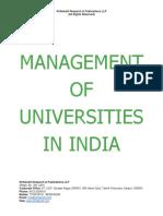 Management of Universities in India [www.writekraft.com]