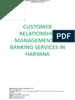 Customer Relationship Management in Banking Services in Haryana [www.writekraft.com]