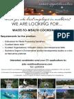 W2W Coordinator Job Flyer