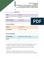 Informe PEC Psicología de las Organizaciones curso 2018