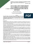 SEISMIC ANALYSIS AND COMPARISON OF VERTICAL IRREGULAR BUILDING CASES USING RESPONSE SPECTRUM METHOD