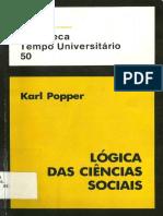Karl Popper - Lógica Das Ciências Sociais