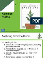 Analyze common stock