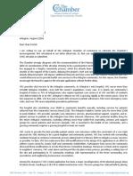 Arlington Chamber letter on VHC