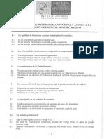 Examen de acceso a la profesión de Gestores Administrativos 2005