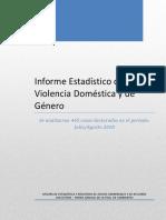 Informe Estadístico de Violencia Doméstica y de Género
