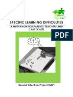 Booklet on Learning Difficulties