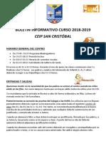 Boletin Ceip San Cristobal 18-19