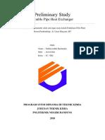 Preliminary Study (Double Pipe Heat Exchanger) - Nabila Luthfi Rachmalia - [161411081]