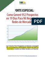 952 Prospectos Para Redes de Mercadeo