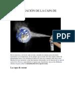 Contaminación de La Capa de Ozono