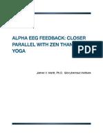 Alpha EEG Feedback
