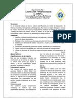 Lab 1 Química General Utp  CLASIFICACION Y PROPIEDADES DE LA MATERIA