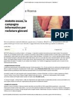 Donazione Di Midollo Osseo, La Campagna... Per Reclutare Giovani - Repubblica.it