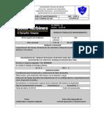 Orden de Trabajo de mantenimiento turbina de gas saturno 20