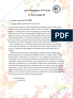 5b welcome letter 2018