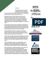 2018-09-19 Coalition letter
