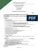 Evaluare Initiala Lb Engleza Cls 7 L1 Bar