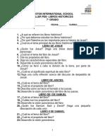 TALLER DE LIBROS HISTÓRICOS- 8°- 3er PERIODO