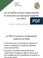Merito en la educación superior de Chile