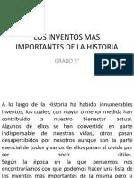 Los Inventos Mas Importantes de La Historia