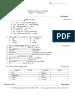 Test Initial Engleza Clasa a 6 a L2