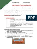 Protocolo de Actuación Por Hipoglucemia o Hiperglucemia
