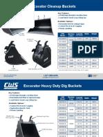 CWS Excavator Dig Cleanup Buckets1