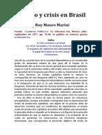 Estado y Crisis en Brasil Marini