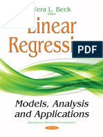 Linear Regression Models, Analysis, And Applications