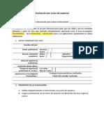 (Formato 1 en Estudios Correlacionales )Para Evaluación Por Juicio de Expertos