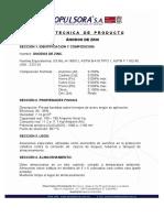 Ficha Tecnica Anodos de Zinc