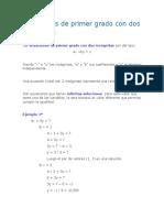 IMPRESO Ecuaciones de Primer Grado Con Dos Incógnitas