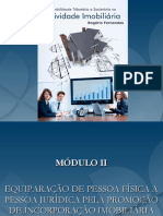 Módulo II - Equiparação de Pf a Pj Na Atividade Imobiliaria
