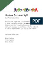 4th grade curriculum night 2018  1