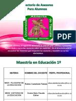 Directorio Maestria Educacion