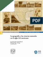 La Geografía y Las Ciencias Naturales en El Siglo XIX