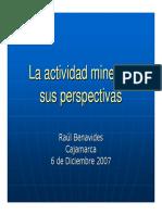 La Actividad Minera y Sus Perspectivas-raul Benavides Ganoza