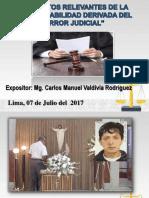 Aspectos Relevantes de La Responsabilidad Civil Derivada Del Error Judicial