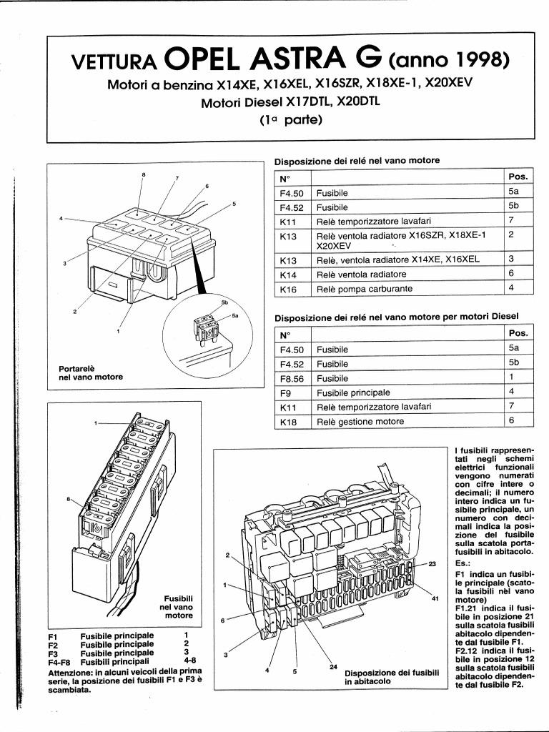 Schemi Elettrici Opel : 71910350 service manual opel astra g 1998 schema elettrico.pdf