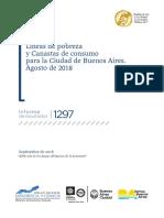 La canasta de pobreza aumentó 3,5% en agosto en la ciudad de Buenos Aires
