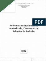 Reformas institucionais de austeridade, democracia e relações de trabalho