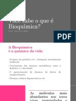 Lista de Exercicios 1 - Bioquimica