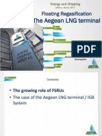 Floating Regasification the Aegean LNG Terminal