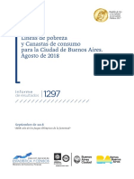 Líneas de pobreza y Canastas de consumo para la Ciudad de Buenos Aires. Agosto de 2018