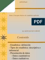 epidemiologia estadistica conceptos basicos