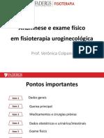 FT UROGENITAL Anamnese e Exame Fisico