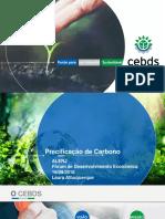 Precificação de Carbono - Laura Albuquerque CEBDS